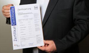 Zertifizierung nach DIN 14675 genobra